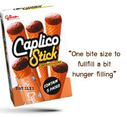 5x Glico Caplico Biscuit Cone Chocolate Free Shipping Made From Thailand ()
