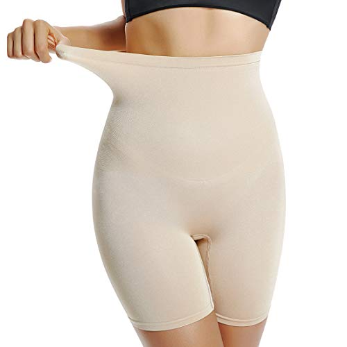 Shapewear for Women Thigh Slimmer Slip Short Control Panties Body Shaper Under Dress Boyshorts (Beige-Light Control, 3XL)
