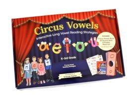 (Interactive Long Vowel Reading Kit: 1 Circus Vowels Book, 32 Sound Vests, 8 Posters, 240 Word List, Over 20 Vest Ideas )