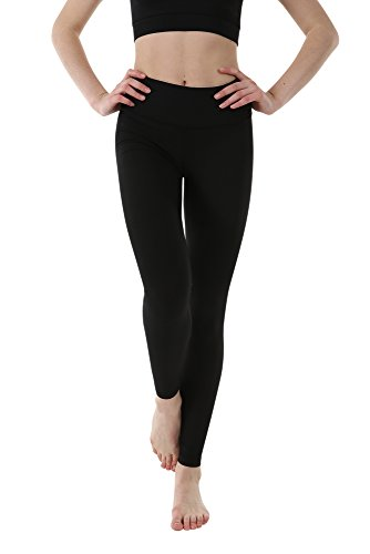 OUTOF Women's Power Yoga Pants – 3.5 High Waist Band Long – Control Shapewear with Streamlined Design Leggings