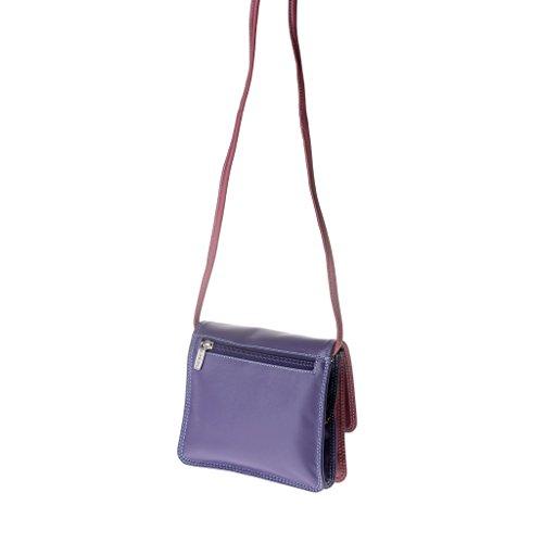 Dudu - Sac porté épaule en cuir - Colorful Collection - Flores - Violet