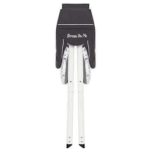 Dream On Me Poppy Traveler Portable Bassinet in Dark Grey