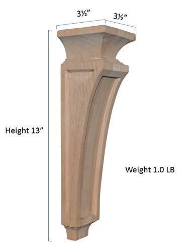 1 Piece BingLTD 13 Inch Alder Mission Corbel C67-ALD-UNF