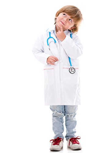 NATURAL UNIFORMS Childrens Lab Coat--Halloween Costumes--Soft Fabric M White]()
