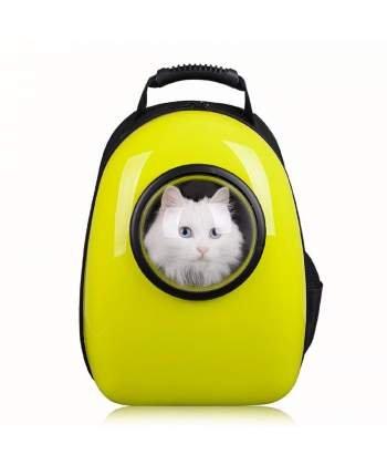 Mochila Cápsula Impermeable Transportín en Forma de Burbuja para Mascotas Perros Gatos (AMARILLO) HOROES: Amazon.es: Productos para mascotas
