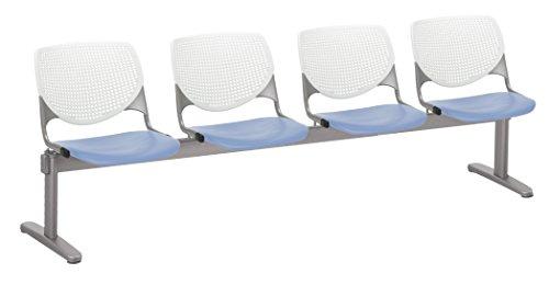 KFI Seating 2300BEAM4-BP08-SP20 Kool 4 Beam Bench, White Back, Peri Blue Seat, Peril ()