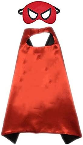 Buy4Deals Barbours Halloween Cape and mask, Amazing Costume Accessories for Child (Red)
