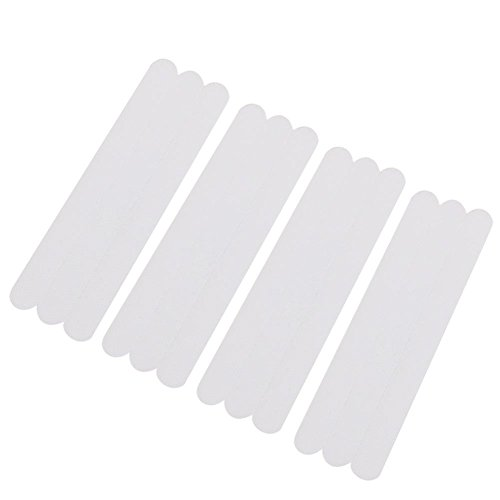 Younar 12 PCS Bathroom Bathtub PEVA Anti-Slip Rubber Strips Safety Shower Treads Stickers Tape for Diving Boards, Poolsides, Changing Rooms, Bathroom Floors 2x38cm