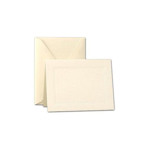 - Crane & Co. Ecruwhite Triple Panel Large Note Cards (CF6816)