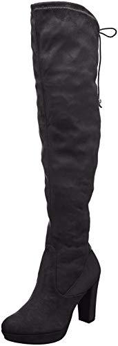 21 Du Bottes Genou 1 Au Tamaris dessus Femme 25560 Noir black qRwaSn5xC