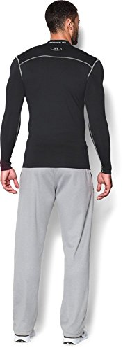 Under Armour Men's ColdGear Armour Compression Mock Long Sleeve Shirt, Black (001)/Steel, Large