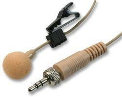 PULSE MIC-500LJ BEIGE Lavalier Microphone with Tie Clip and 3.5mm Locking Plug - Beige by Pulse