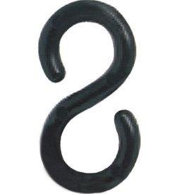 S HOOKS 2'' BLACK Pack of 12
