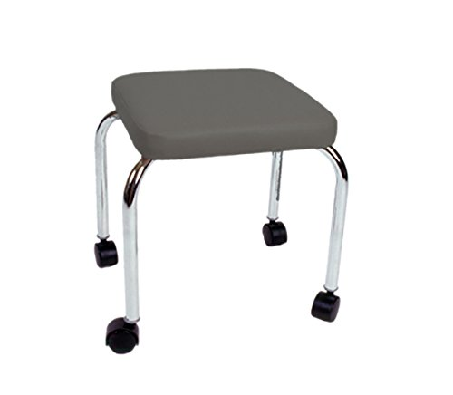 Mobile stool, no back, square top, 18