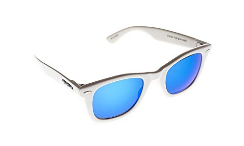 Waveborn Sunglasses Moonlight Sunglasses, White, Blue UV-Mirror - Ray Warranty Lost Bans