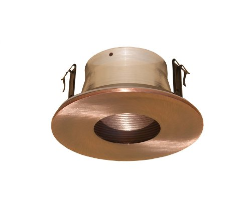 4 Inches Line Voltage Pinhole Baffle Trim for Recessed Light-(Copper)- Fit Halo / Juno