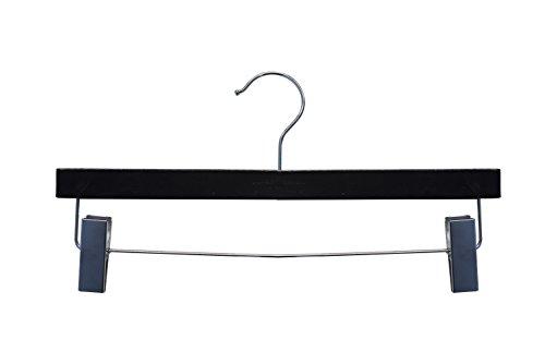NAHANCO 20414RC Wooden Pant/Skirt Hanger, 14'', High Gloss Black Finish (Pack of 100) by NAHANCO