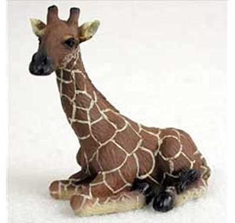 "Large Resin Giraffe Statue With Mosaic Glass Prints 11/""H Figurine"