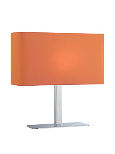 Lite Source LS-21797C ORN Levon Table Lamp with Orange Fabric Shade, Chrome