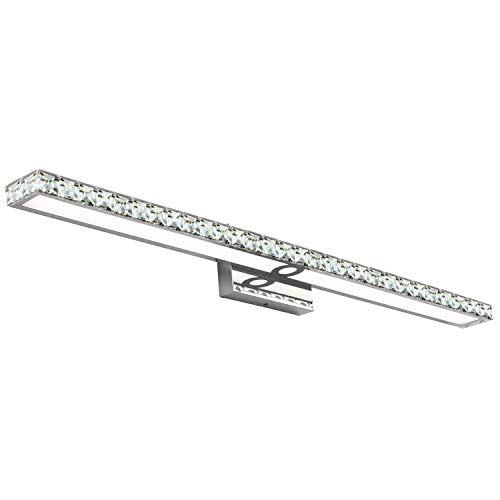 40 Inches SOLFART Crystal Long Bathroom Vanity Lights Fixtures Over Mirror Wall -