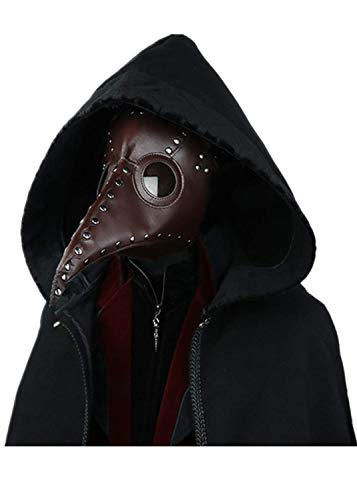 Steampunk Mask Gothic Retro Plague Doctor Beak Mask Simple Leather Masquerade Halloween Cosplay Costume Props]()
