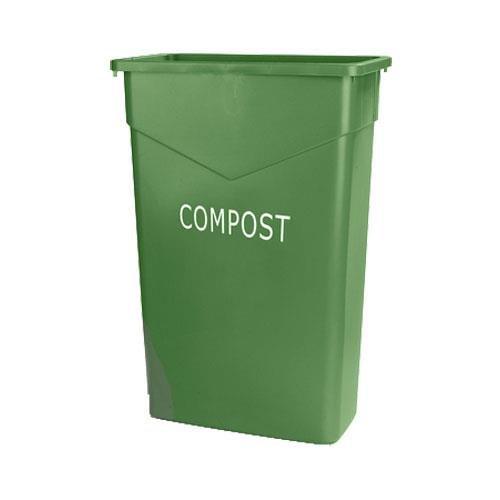 Carlisle 342023CMP09 TrimLine Plastic Compost Container, 23 Gallon Capacity, 10.95