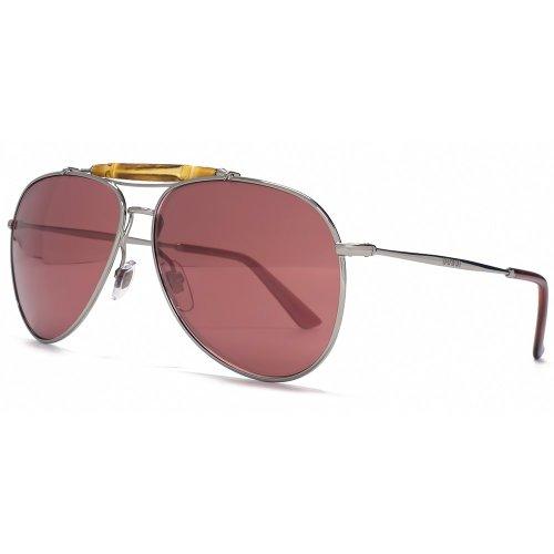 Gucci Bamboo Bar Aviator Sunglasses in Ruthenium Flash Pink GG 2235 S 6LB V0 - Gucci Bamboo Sunglasses