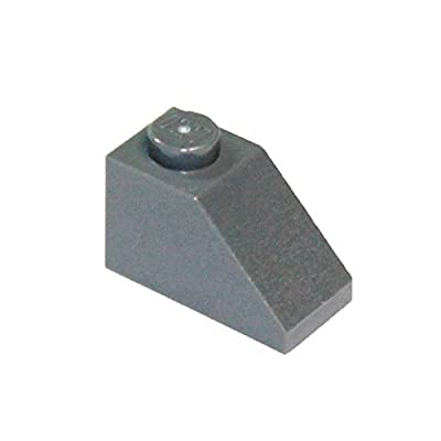 LEGO Parts and Pieces: Dark Gray (Dark Stone Grey) 1x2 45 Slope x100: Toys & Games