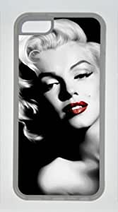 Famous American Actress Marilyn Monroe Customized Rubber Transparent iphone 5C Case By diycenter Your Best Choice