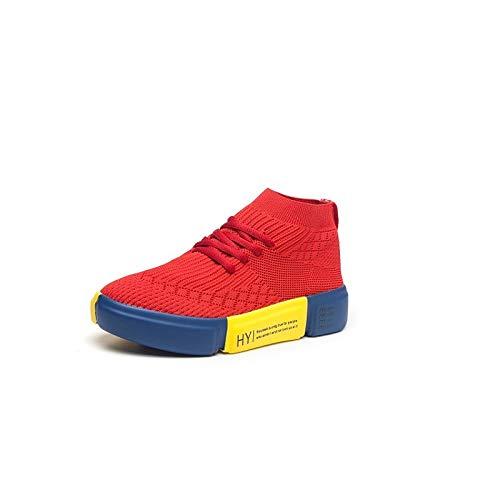 White Tacco Bianco Comfort da Sneakers Primavera donna Nero ZHZNVX elastico Tessuto piatto Scarpe Rosso Estate Sq1zwag