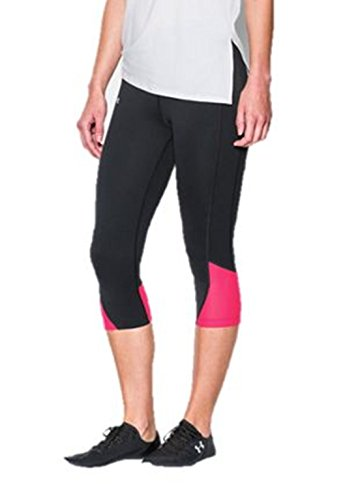 Under Armour Women's UA Fly-By Run Compression Capri Pants (XS) Black/Pink