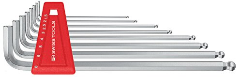 Price comparison product image PB Swiss Tools Ball Point Hex Key Set,  long-type,  chrome-plated,  with sizes 1.5-8mm