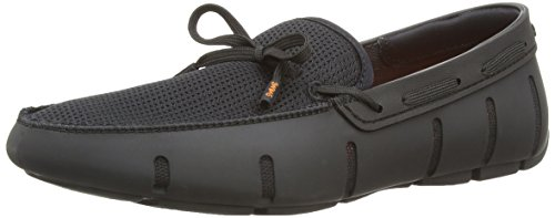 SWIMS Men's Lace Loafers, Black, 12 D(M) US by SWIMS