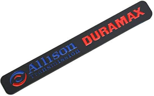 Black Blue One Pcs ALLISON DURAMAX Adhesive Emblem Badge Compatible with Silverado 2500HD 3500HD