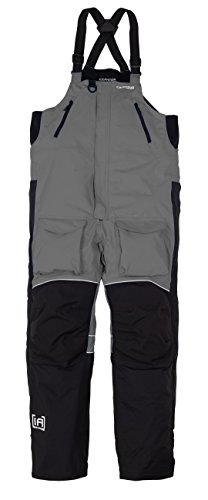 NEW Clam Outdoors 10304 IceArmor Edge Cold Weather Bib - Charcoal/Black - XL Ballistic Windproof Fleece