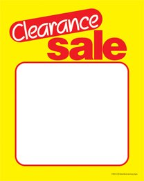 (SYC210 - Clearance Sale - Red Yellow Slotted and Punched Sale Price Tags with Center Slit - (100 Per Pack) (3 1/2