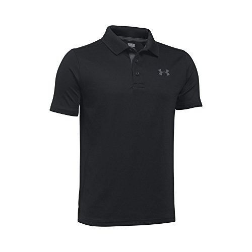 Price comparison product image Under Armour Boys' Match Play Polo Shirt,  Black / Rhino Gray,  Youth X-Large