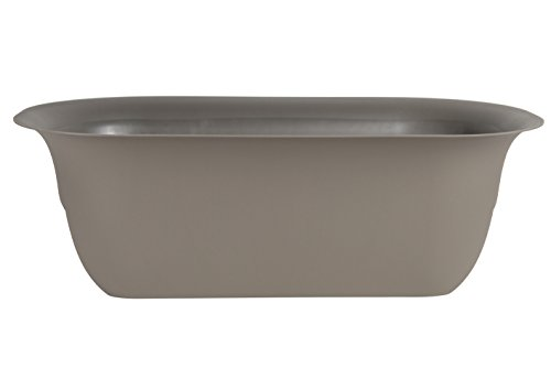 Bloem Modica Deck Rail Planter 24'' Peppercorn by Bloem