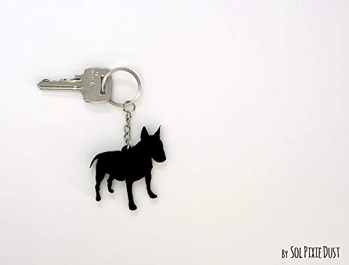 English Bull Terrier - Keychain Silhouette