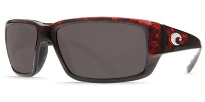 Costa Fantail Polarized Sunglasses - Costa 580 Glass Lens Tortoise/Gray, One - Fantail Costa 580