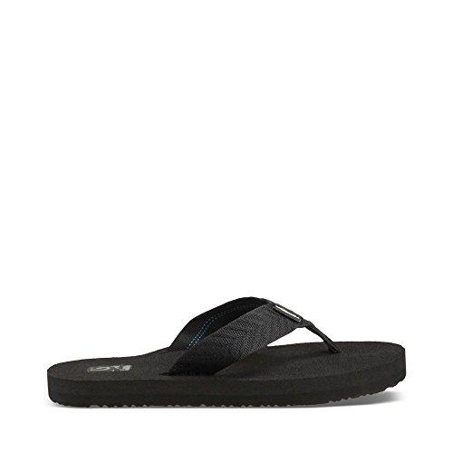 Teva Women's Mush II Flip Flop,Fronds Black,8 M US