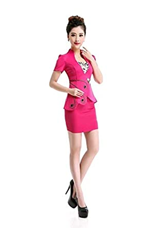 Amazoncom Best Quality Skirt Suits New Summer Style 2 Pie Ol