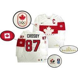 quality design 0b5d7 0c48c Sidney Crosby - Signed Team Canada White 2014 Olympics ...