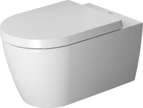 Toilet WM 570mm ME by STARCK white washdown, Durafix, Rimless, US (Washdown Faucet)