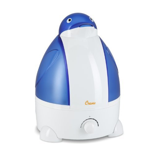 Crane Adorable Ultrasonic Cool Mist Humidifier with 2.1 Gallon Output per Day - Penguin (Pack of 2)