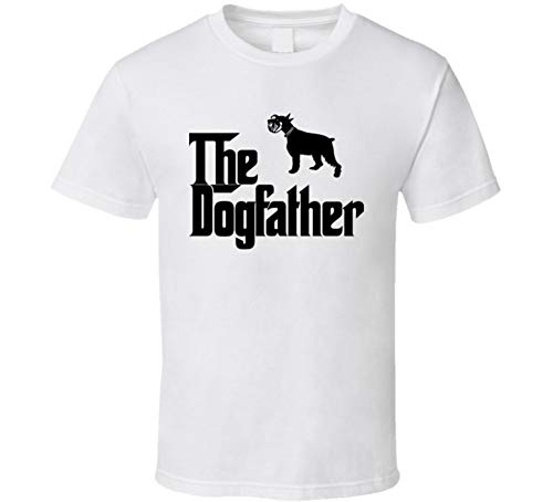 Standard Schnauzer Custom Dog Breed The Dogfather T Shirt L White ()