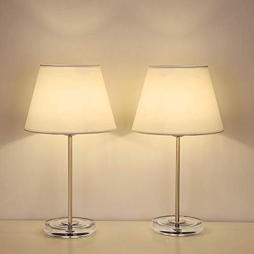 Haitral Modern Table Lamps Set Of 2 Bedside Lamps With