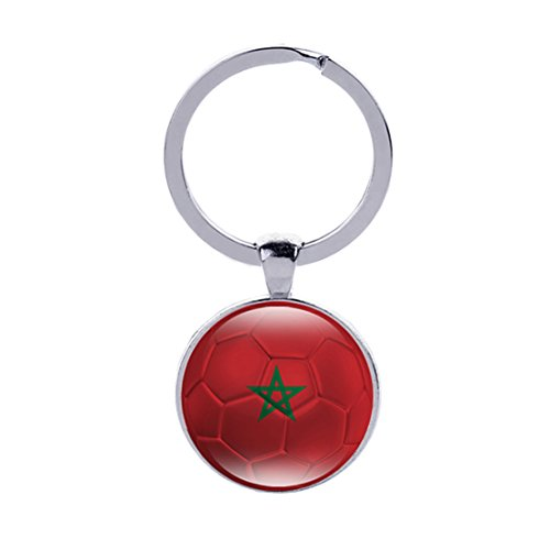 (Tfoddy 2018 FIFA National Fag and World Cup Double Sided Key Ring (Morocco))