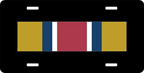 (US Army Reserve Components Achievement Medal Ribbon Auto Truck Car Front Tag Aluminum Metal License Plate Frame Cover Military Vanity Gift 12 x 6 Inch)