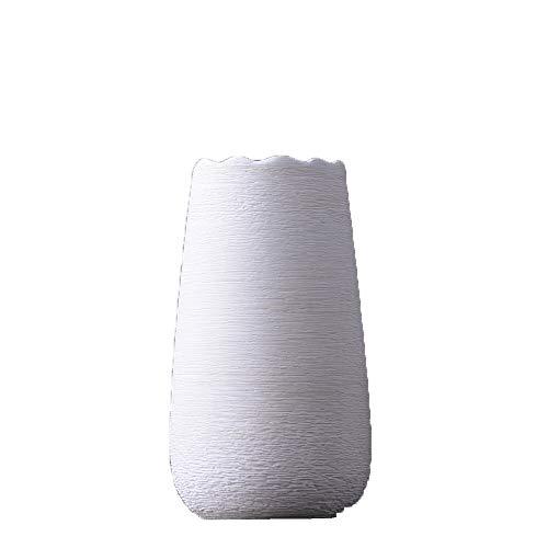blanc 1 HommesGMEI Vase Décoration Céramique Salon Créatif Tige Blanche Fleur Maison